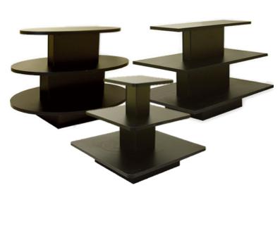 3-Tiered Display Tables- Black