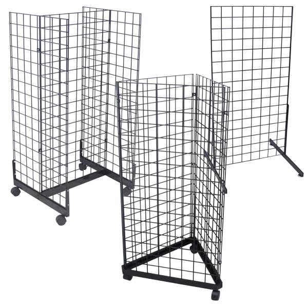 Black Grid Merchandisers