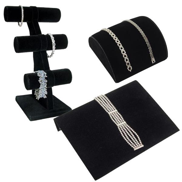 Black Velvet Bracelet Displays