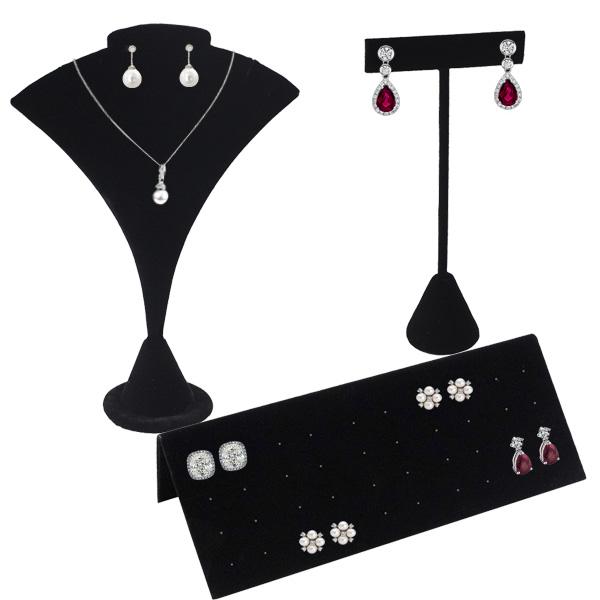 Black Velvet Earring Displays