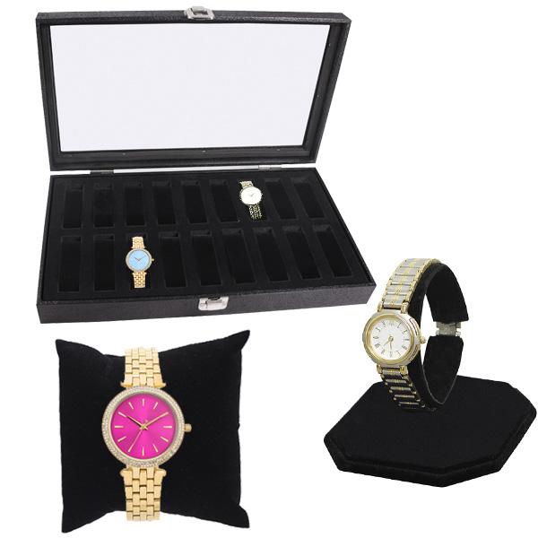Black Velvet Watch Display