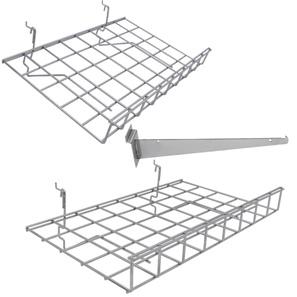 Slatwall Shelving & Brackets -Chrome