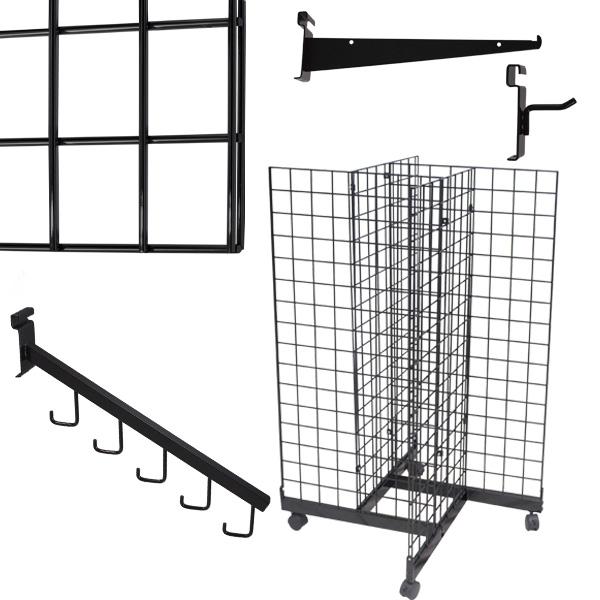 Black Grid Panels & Accessories