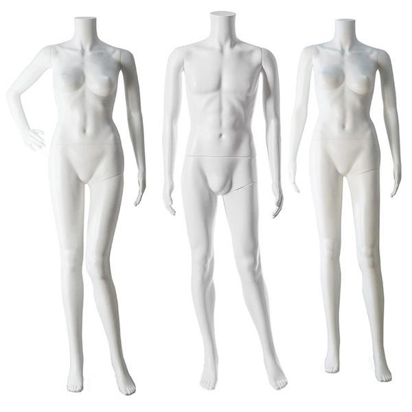 Plastic headless mannequin-white