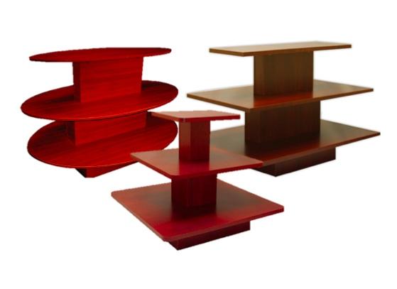 3-Tiered Display Tables- Walnut