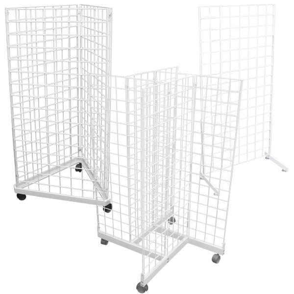 White Grid Merchandisers