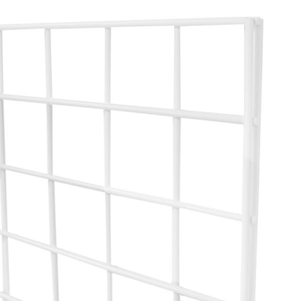 White Grid Panels