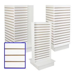 Slatwall & Island Merchandisers-White