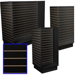Slatwall & Island Merchandisers-Black
