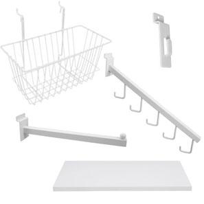 Slatwall & Accessories-White
