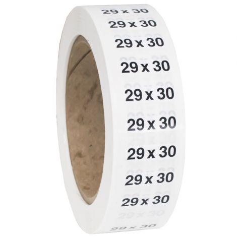 Size 29x30 Labels