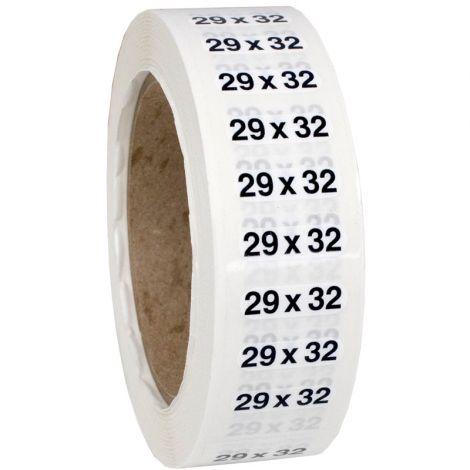 Size 29x32 Labels
