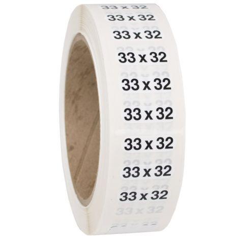 Size 33x32 Labels