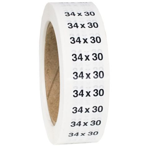 Size 34x30 Labels