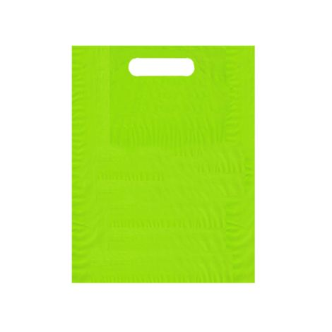 Solid Color Die Cut Bags - Lime - 9X12