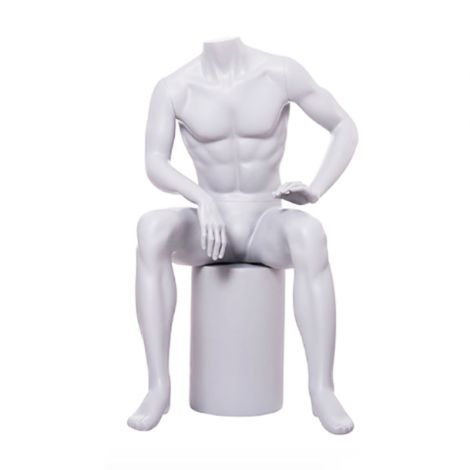 Sitting Headless Male Mannequin- Eric03