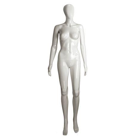 Gloss Female Mannequin - White