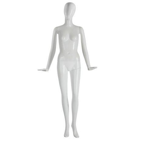 Plastic Gloss White Glitter Female Mannequin