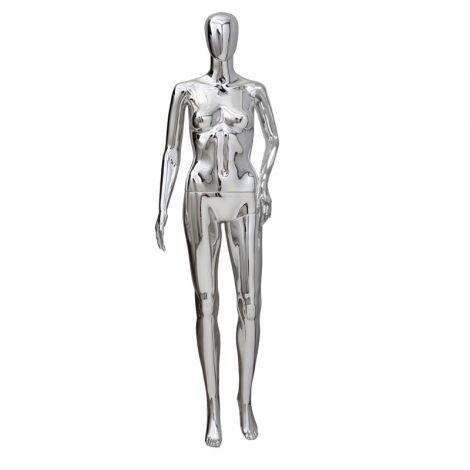 Plastic Female Mannequin- Chrome