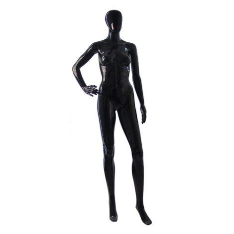 Gloss Female Mannequin - Black