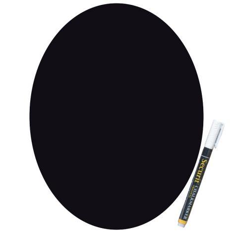 Wall Chalkboard Oval & Marker