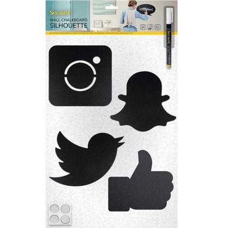 Wall Chalkboard Social Media & Marker