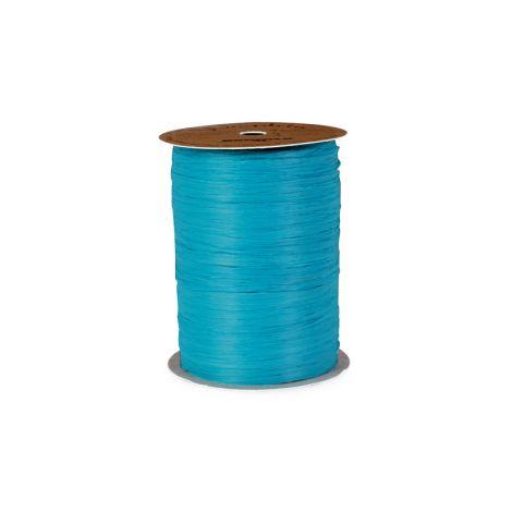 Matte Caribbean Blue Raffia
