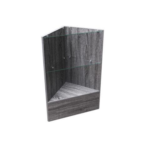Rustic Gray Triangle Corner Display