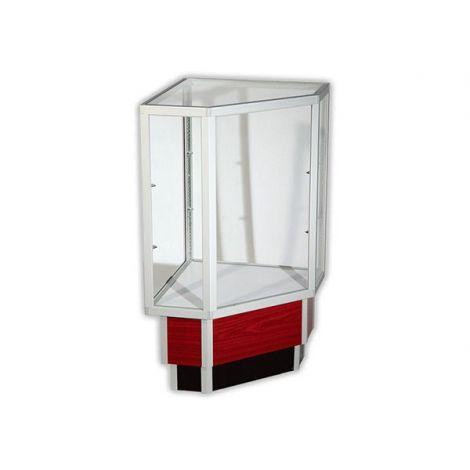 Full Vision Aluminum Frame Corner Case- Walnut