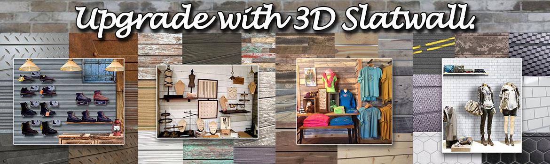 3D Slatwall Panels